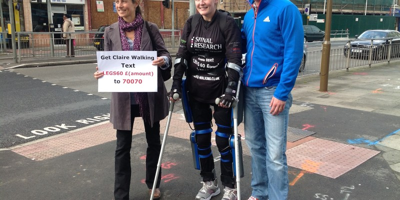 Claire Lomas with Tennis Star Tim Henman & wife Lucy.