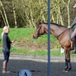 Jesse Campbell With His Dressage Trainer, Lisa White