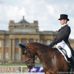 Tom Grant & Cloncolman Lad Ride Dressage On The Lawn Of Blenheim Palace