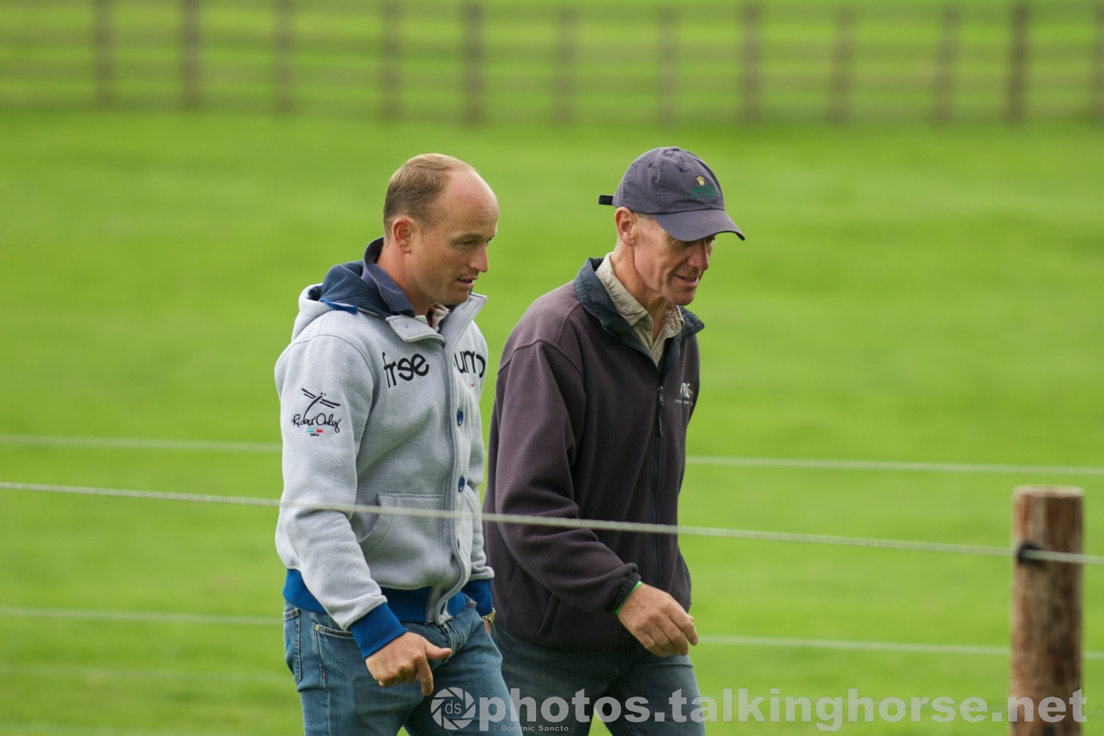 Michael Jung Walking The Course With Chris Bartle